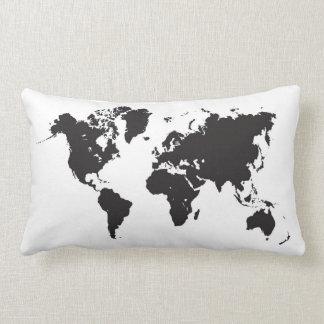 almohada del mapa del mundo