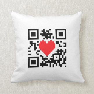 Almohada del mensaje del amor del corazón del