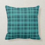 Almohada del modelo de la tela escocesa