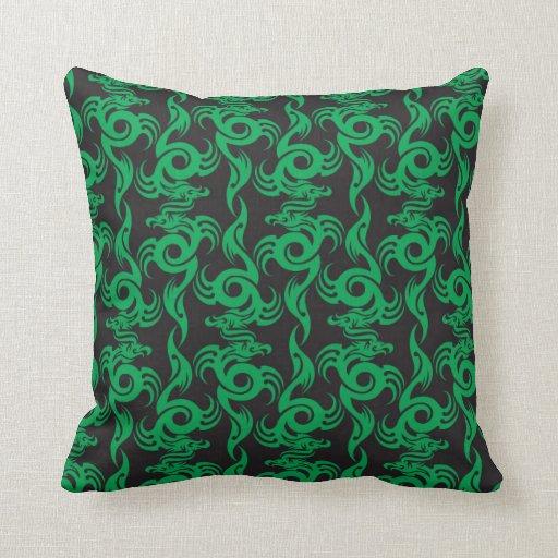 Almohada del modelo del dragón verde