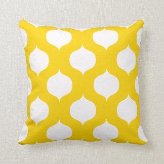 Almohada del modelo del enrejado - amarillo del Fr