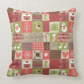 Almohada del modelo del vintage del navidad con cojín decorativo