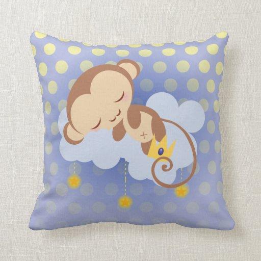 Almohada del mono de los sueños dulces
