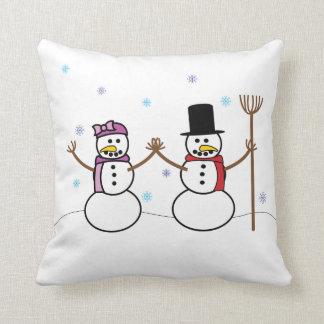 Almohada del muñeco de nieve