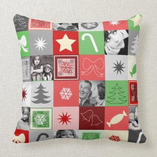Almohada del navidad del collage de la foto con cojín decorativo