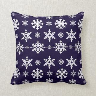 Almohada del navidad del copo de nieve de los