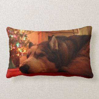 Almohada del navidad del husky siberiano