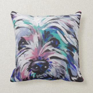 Almohada del oeste del arte pop de Terrier de la m
