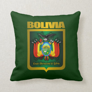"""""""Almohada del oro de Bolivia"""" Cojín"""