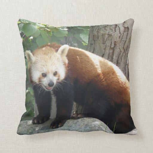 Almohada del oso de panda roja