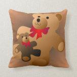 Almohada del oso de peluche