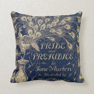 Almohada del pavo real del orgullo y del perjuicio cojín decorativo