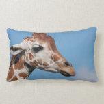 Almohada del perfil de la jirafa