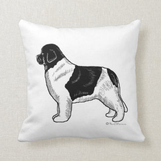 Almohada del perro de Landseer Terranova Cojín Decorativo