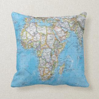 Almohada del personalizado del mapa del mundo