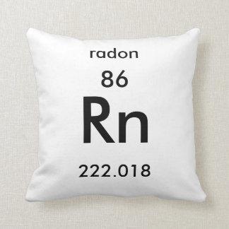 Almohada del radón del cuadro periódico 86