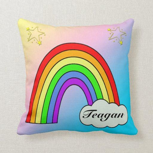 Almohada del recuerdo del bebé del arco iris
