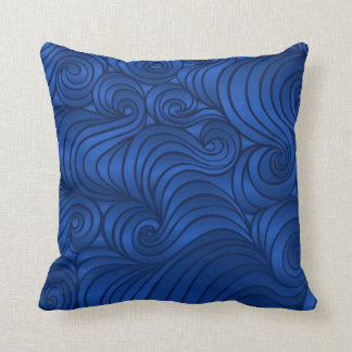 Almohada del remolino del azul real cojín decorativo