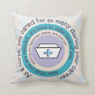 Almohada del retiro de la enfermera cojín decorativo