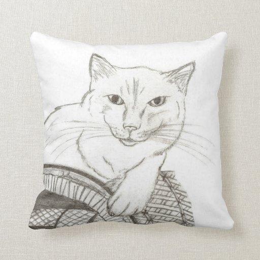 Almohada del retrato de Ragdoll del gato