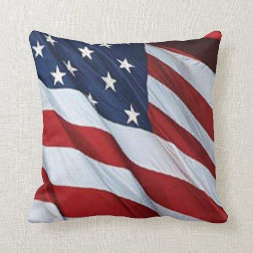Almohada del reversible de la bandera americana