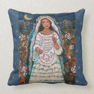 Almohada del rezo de Maria del saludo con los