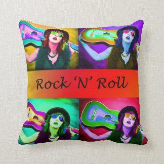 Almohada del rock-and-roll cojín decorativo