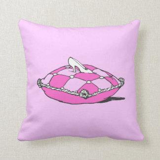 Almohada del rosa del deslizador de Cenicienta