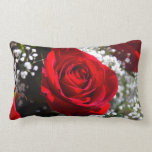 Almohada del rosa rojo