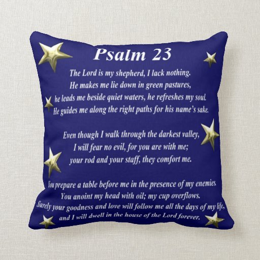 Almohada del salmo 23