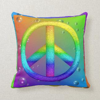 Almohada del signo de la paz cojín decorativo