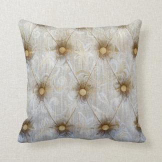 Almohada del sofá del tiro del monograma de la tel