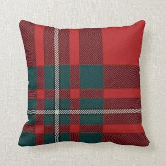 Almohada del tartán de la tela escocesa de Gregor