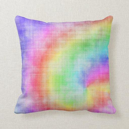Almohada del teñido anudado del arco iris