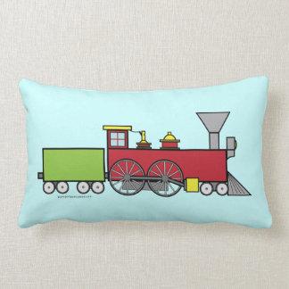 Almohada del tren de la diversión en azul
