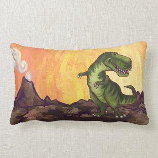 Almohada del Tyrannosaurus de cabezas y de las col