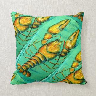 almohada del verde de la langosta de Maine