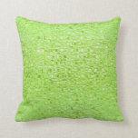 Almohada del vidrio de verde lima