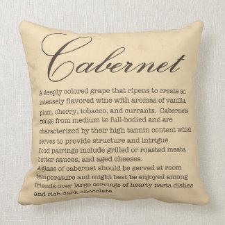 Almohada del vino de Cabernet