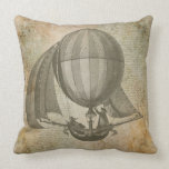 Almohada del vintage del globo del aire caliente