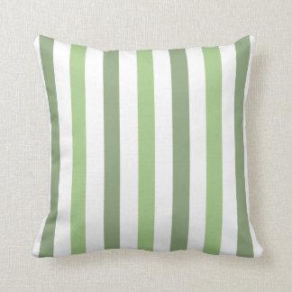 Almohada delantera y trasera de la raya verde