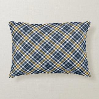 Almohada deportiva del acento de la tela escocesa cojín decorativo