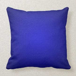 Almohada dimensional azul de la decoración del