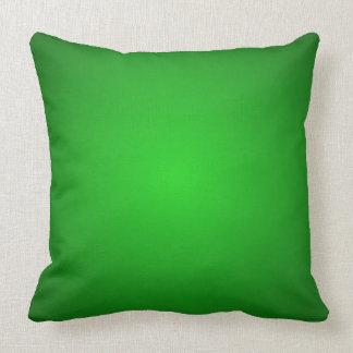 Almohada dimensional verde de la decoración del