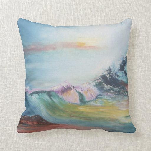 Almohada - diseño colorido de las olas oceánicas