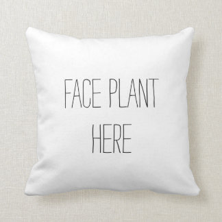 Almohada divertida de la planta de la cara