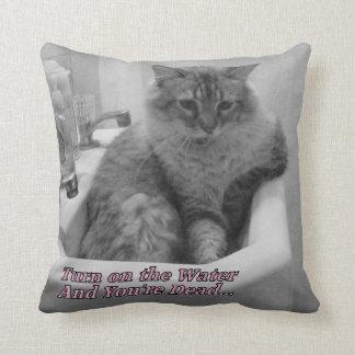 Almohada divertida del gato de los refranes