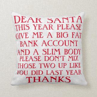 Almohada divertida del navidad de Santa