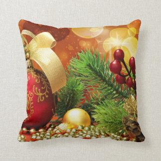 Almohada dual de la decoración del navidad