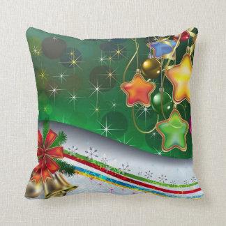 Almohada dual festiva del navidad del arte